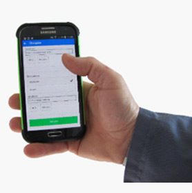 Erfassung mit dem Smartphone - Online wie offline